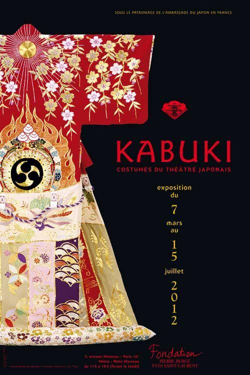Kabuki  Costumes du théâtre japonais  du 7 mars au 15 juillet 2012         La Fondation Pierre Bergé