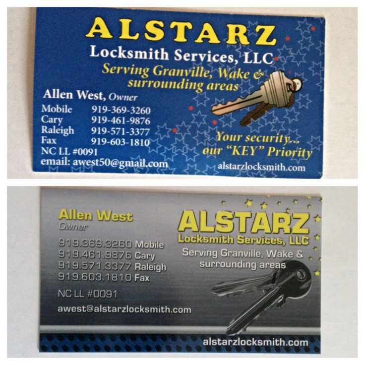 Alstarz Business Card Revamp. The top is the old and