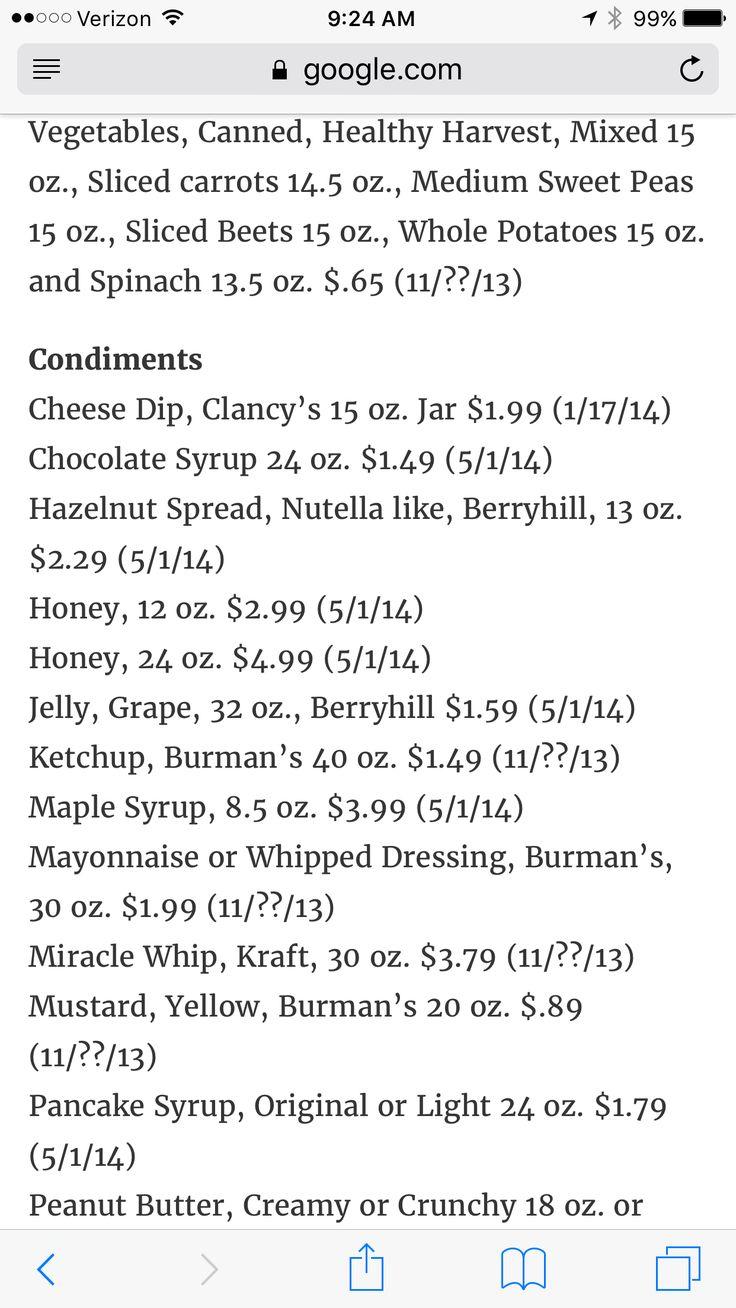 Aldi Price List