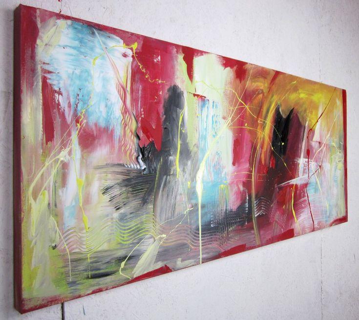 quadro astratto 150x65 per info: http://www.saurobos.it/prodotto/quadri-astratti-soggiorno-moderno-150x65/