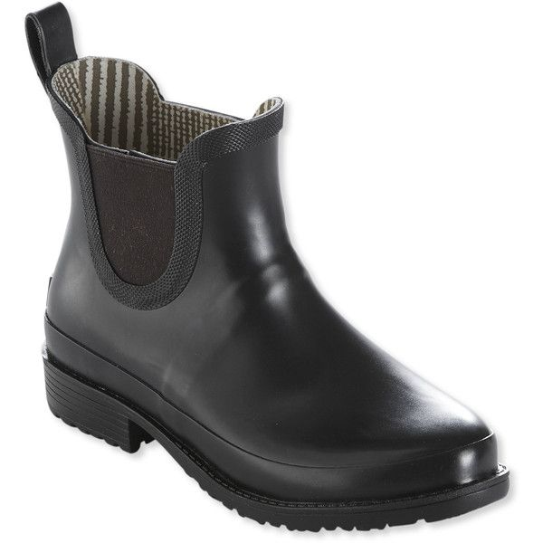 L.L.Bean Women's Wellies Rain Boots, Ankle ($74) ❤ liked on Polyvore featuring shoes, boots, wellies rubber boots, waterproof wellington boots, ankle high rain boots, waterproof rain boots and ankle high boots