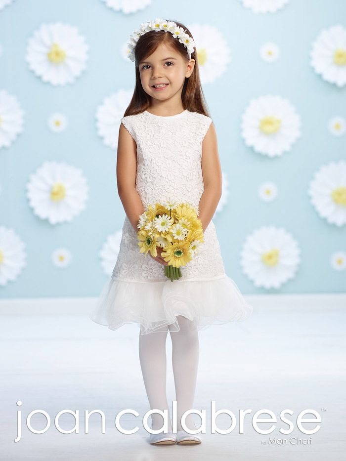 Flower Girl / First Communion by Joan Calabrese Joan Calabrese for Mon Cheri 116398 Joan Calabrese by Mon Cheri Shopusabridal.com by Bridal Warehouse - Bridal, Prom, Quinceanera, Special Occasion