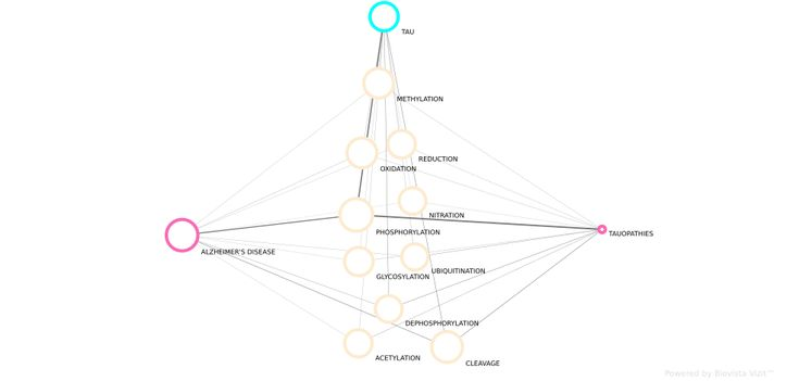 #Tau #protein related post-translational modifications in #Alzheimers #disease and other #tauopathies. Explore #PubMed links and connections via Vizit