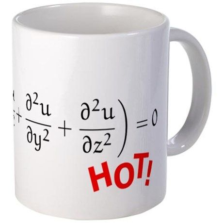 "Heat Equation with red ""HOT"" Mug"