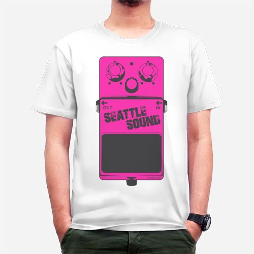 Seattle Sound Stomp Box Pink Tee dari Tees.co.id oleh Superego Clothing