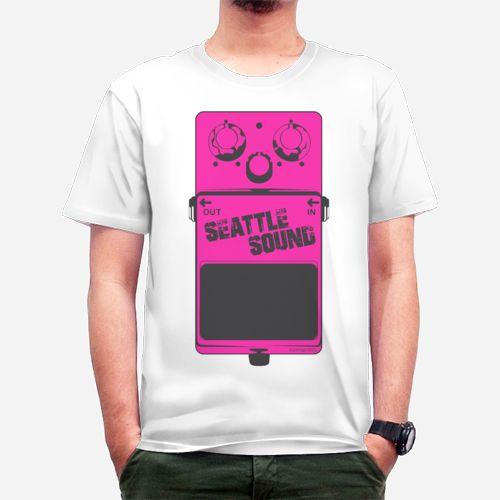 Seattle Sound Stomp Box Pink Tee dari Tees.co.id oleh Superego Clothing