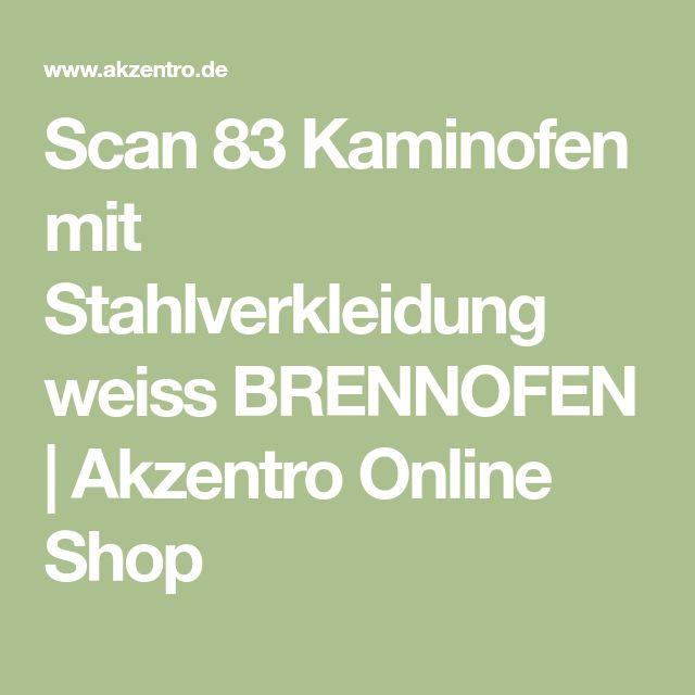 Weißer Kaminofen: Scan 83. Ausstellungsstück zum Sonderpreis oder jetzt ganz individuell konfigurieren!