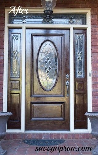 17 Best Ideas About Stained Front Door On Pinterest