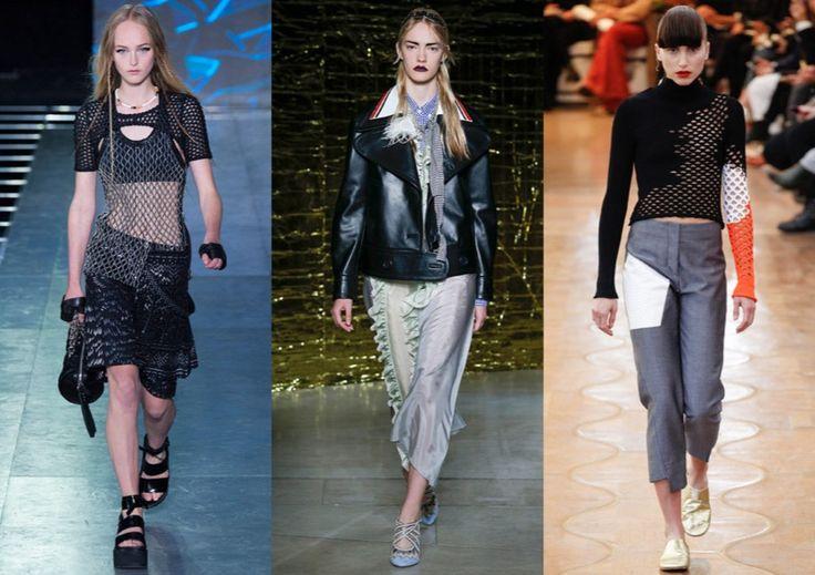 Модная эстетика альтернативных рокеров начала 90-х с потертыми косухами и драными топами актуальна и по сей день. Одевайтесь в стиле панк или гранж.