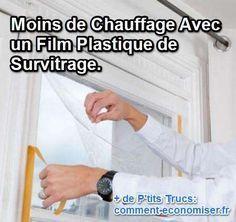 Si vous n'avez pas de double vitrage, il est tout à fait possible de le fabriquer vous-même ! Pour passer un hiver bien au chaud, pensez à installer des films plastiques de survitrage sur les fenêtres de votre maison. Découvrez l'astuce ici : http://www.comment-economiser.fr/isoler-fenetres-film-survitrage.html?utm_content=bufferebf71&utm_medium=social&utm_source=pinterest.com&utm_campaign=buffer