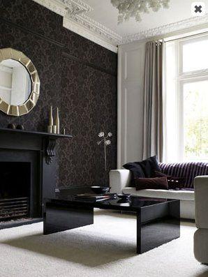 Love the damask wallpaper!