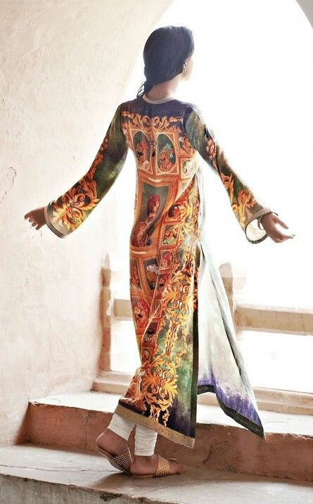 printed fabric suit