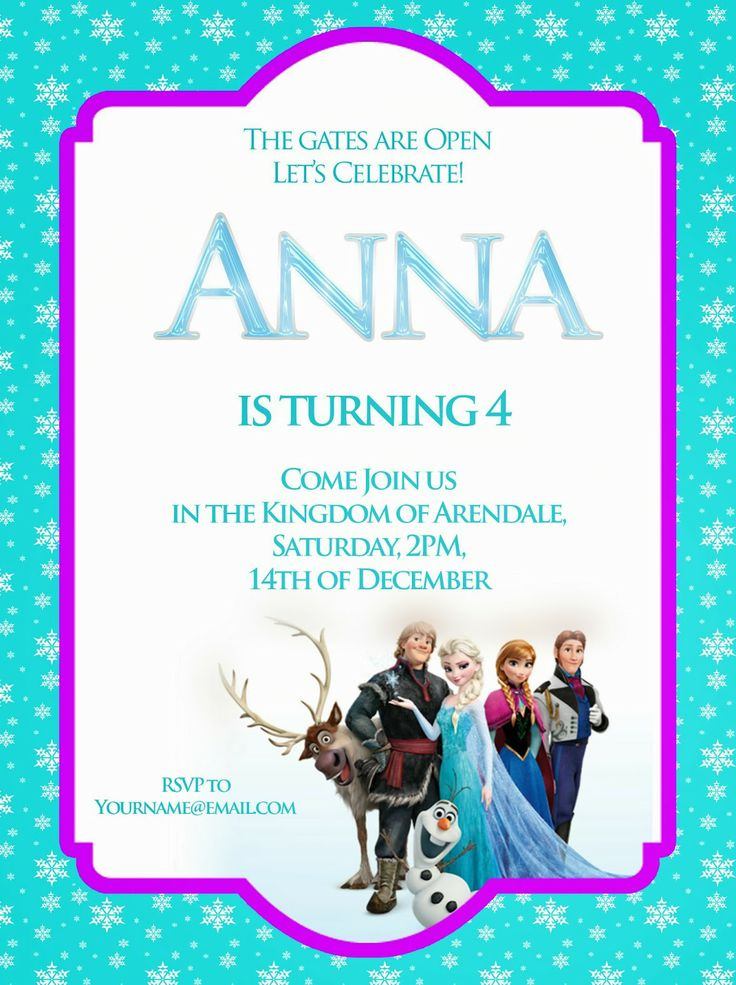 17 best images about party ideas disney39s frozen invites for Free printable disney wedding invitations templates