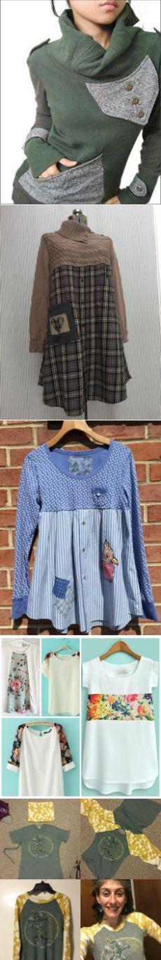 Идей на тему «Refashioning в Pinterest»: 1000+ | Одежда из переработанных материалов, Одежда своими руками и Смена моды на футболки