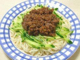 肉味噌そうめん Somen Noodle with Miso Braised ground pork