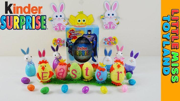 Batman Easter Egg Big Kinder Egg Surprise Egg with Bat-mobile Toy