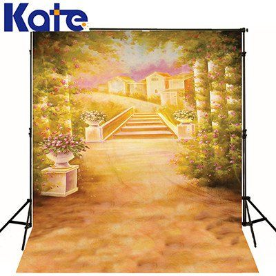 5x6.5ft printed fabric Scenic Backdrops Autumn yellow muslin Backdrop CM-S-1737-1