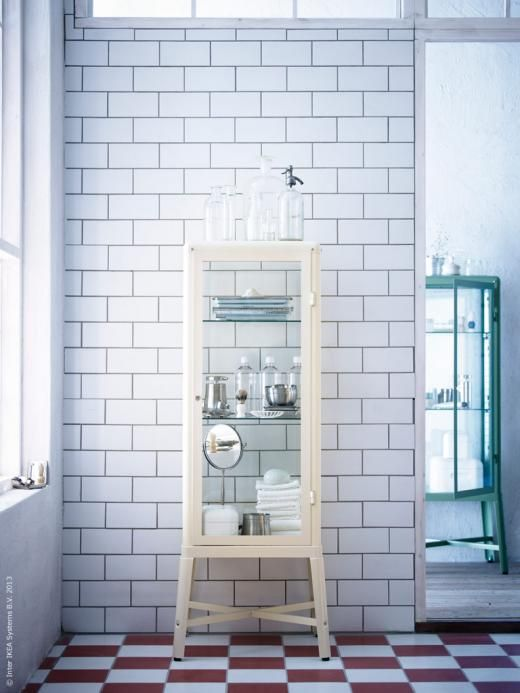 IKEA. Must get this. Reminds me of my great grandfather's medicine cabinet that my grandmother has.