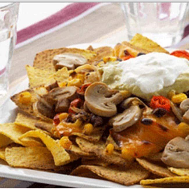Recette apéritive Gourmande Sans Gluten et Végétarienne : {Nachos aux champignons au four} http://www.markal.fr/produit/nachos-aux-champignons-au-four/