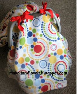 DIY fleece car seat cover...i seriously love this website hopefully someone has a baby shower soon theres tons of neat projects on this site