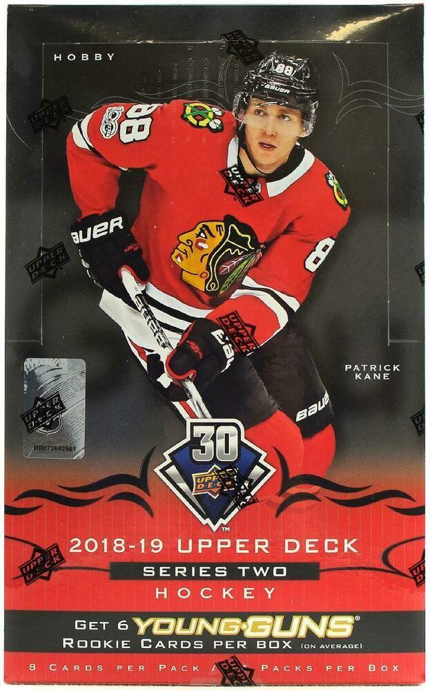 2018 19 Upper Deck Series 2 Hockey Hobby Box Upper Deck Nhl Hockey Hockey