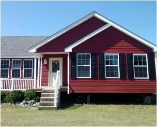 Love The Rustic Look This Red Vinyl Gives Modular Home