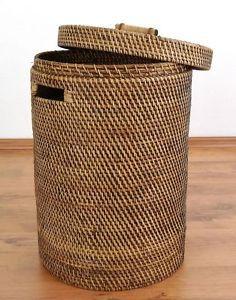 Wäschekorb aus Bambus, Wäschebox, Wäschesammler, Wäschetonne, Bali | eBay