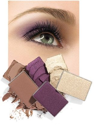 Make-up tips for green eyes. I use these colors and it really does bring out my eyes!