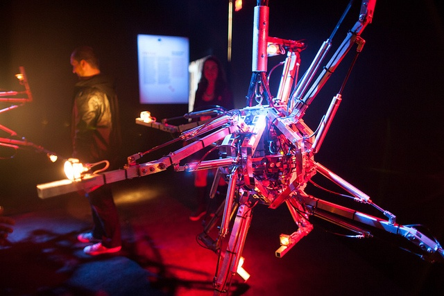 e-merge: Hysterical machines by Bill Vorn © Elida Arrizza / C2-MTL #C2MTL