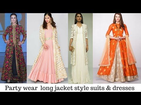 c071b981ae Jacket style salwar kameez designs | Indian long jacket style suits for  ladies - YouTube