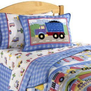 When it comes to creating a transportation bedroom you can't beat the Trains, Planes and Trucks bedding coordinates and accessories from Olive Kids. Or you can personalize your child's trains, planes and trucks bedroom theme by selecting colorful themed kids bedding, window and pillow fabrics, and a mural, border, or wall stickers featuring transportation themes.