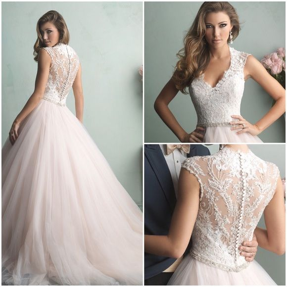 Silver Wedding Dress Ideas : Best 25 pink wedding gowns ideas only on pinterest blush