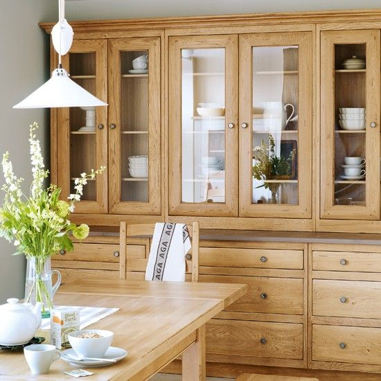 glass cabinets to display and organise - Kitchen Wardrobe Designs
