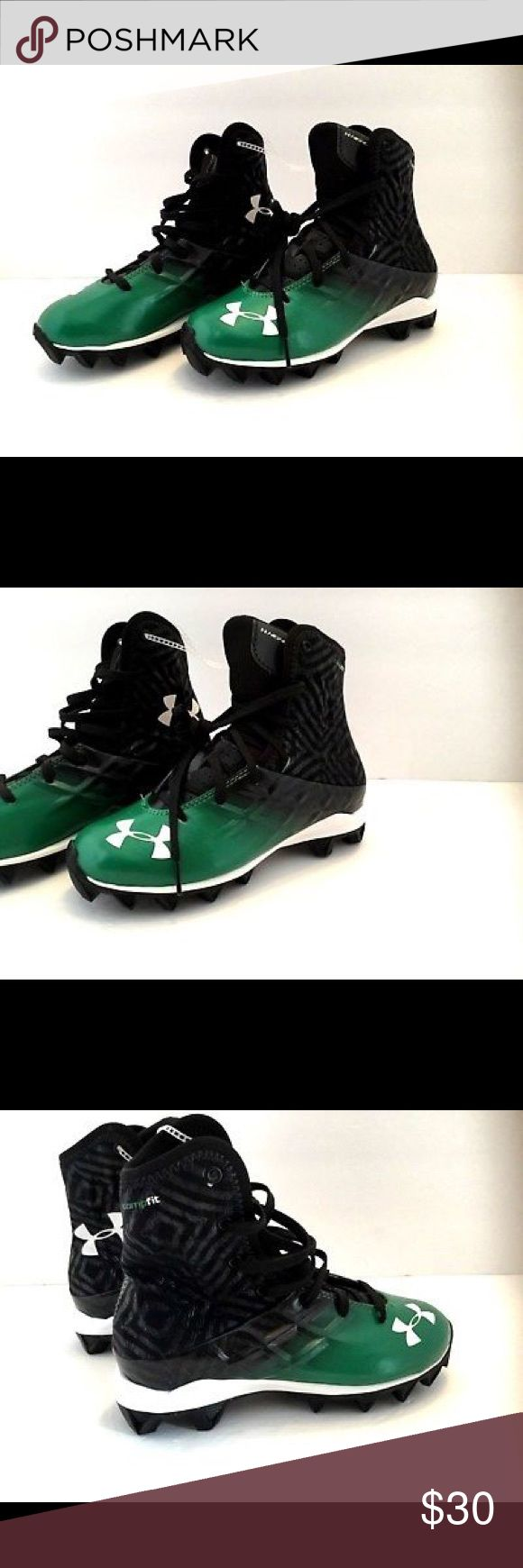 UA Highlight Youth Football Cleat Sz 2Y Green/Blk Under Armour Highlight Youth Boys Football Cleats Size 2Y Green/Black. New. No box. Ships in one business day. Under Armour Shoes