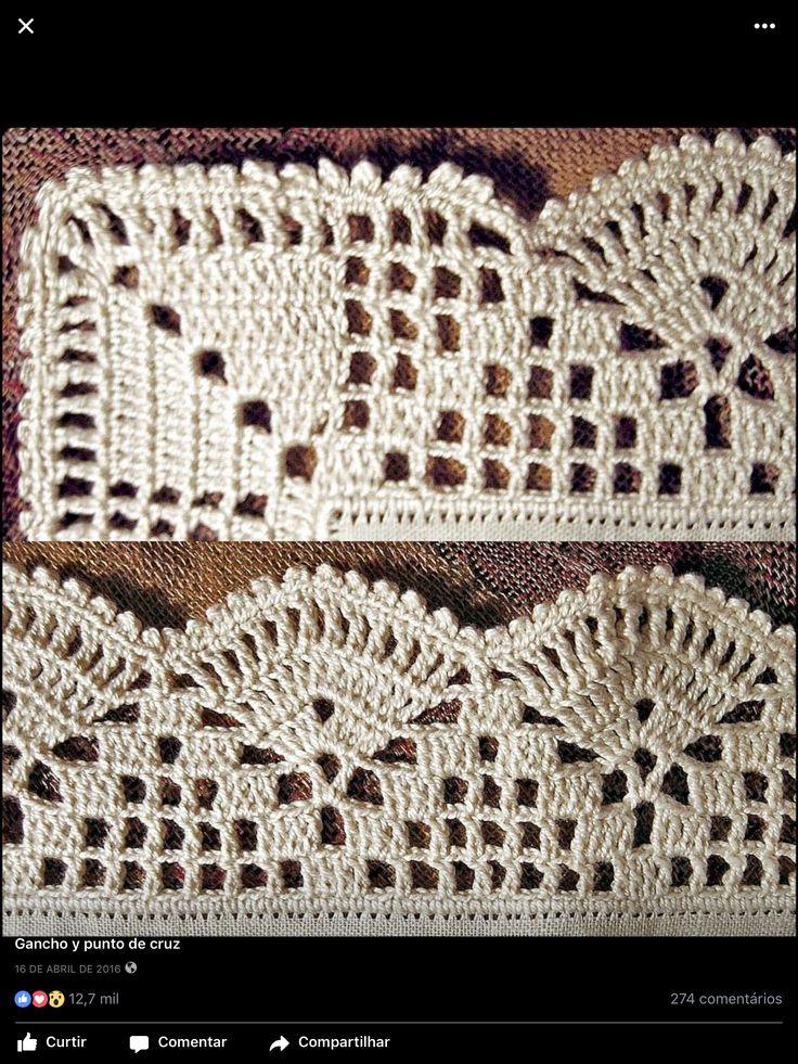 858 Best Bicos E Barrados De Croche Images On Pinterest