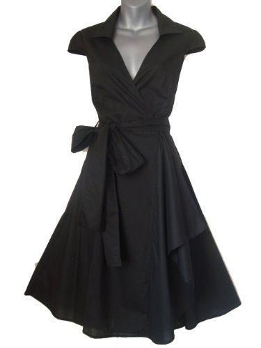 Robe de Soiree ,Noir,Vintage Rockabilly style,Retro Années 50, Jupe, Swing,Pin up ,Parfaite Pour Soiree, Dansante Taille 36-48: Amazon.fr: V...