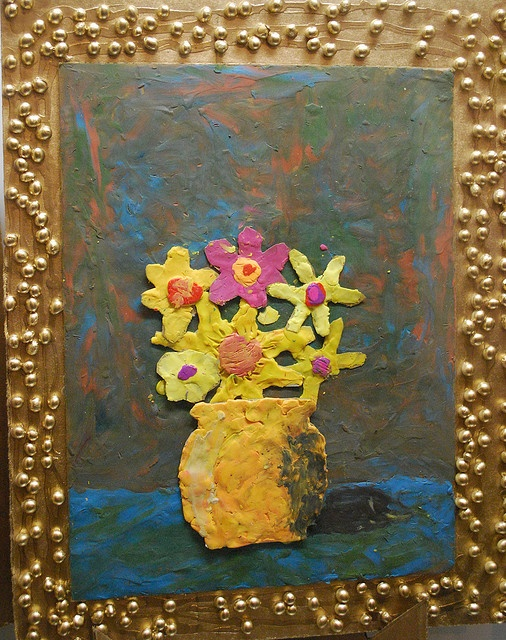 """Painting"" with plastecine clay"