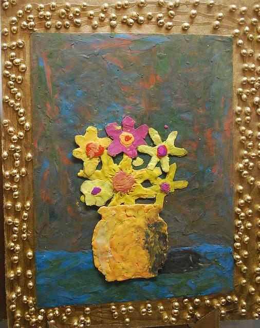 """Painting"" with plastecine clay"