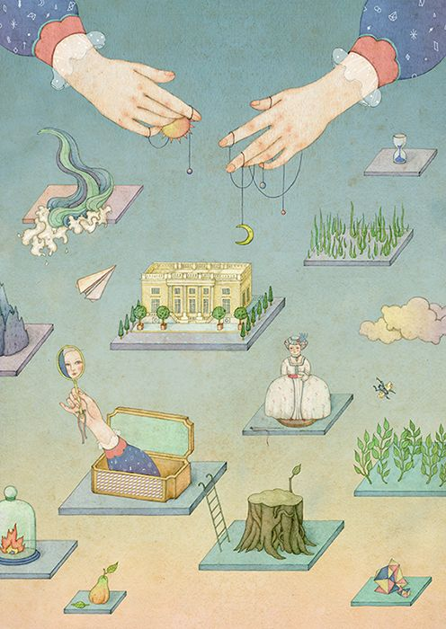 editorial illustration:Breguet×MingWeekly by whooli chen, via Behance