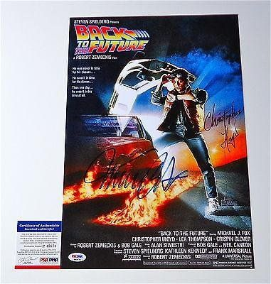Michael J Fox Christopher Lloyd Signed Back To The Future 11X17 Poster @ niftywarehouse.com #NiftyWarehouse #BackToTheFuture #Movie #Film #Movies #Gifts