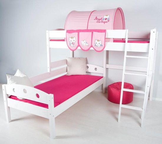 Cama infantil alta y literas para niños, Caballeros y Princesas - Mamidecora