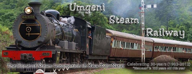 Steam Trains- First and Last Sunday of the month, R180 per adult, R130 per kids. Runs from Kloof to Inchanga and back.