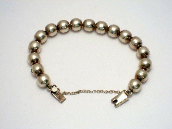 Taxco Sterling Bead Bracelet