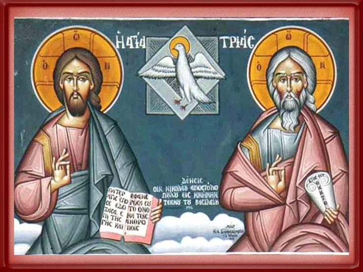 ¡Gloria a Ti, Santísima Trinidad Padre, Hijo y Espíritu Santo! Dios Trino y uno, principio y fin nuestro, creo, espero y confío en Ti,...