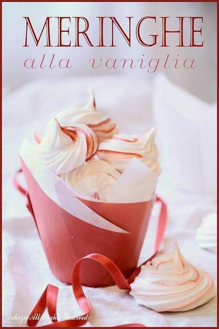 Dicembre - #Vogliadi #Natale - blog Dolcizie... le mie dolci delizie !: Piccole Meringhe - Ricetta Csaba dalla Zorza-