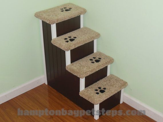 Dog Stairs for Beds Handmade by Hampton Bay Pet Steps