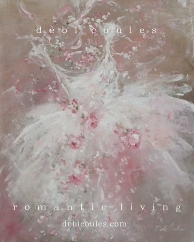 """my beautiful """"Tutu Bouquet"""" Painting is availiable at www.debicoules.com"""
