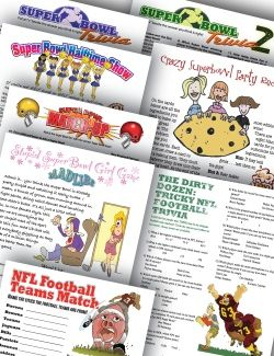 Printable Super Bowl Party Games via PartyGamesEtc.