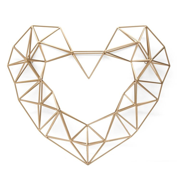 Large Gold Geo Heart by white tree floral design