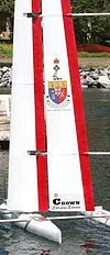 Remote controlled sailboat, Royal Military College of Canada, Kingston, Ontario, Canada